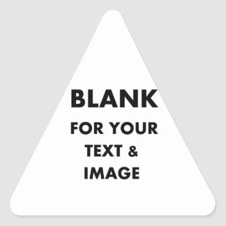 MAKE MY OWN PERSONALIZED PHOTO GIFT Use Your Image Triangle Sticker