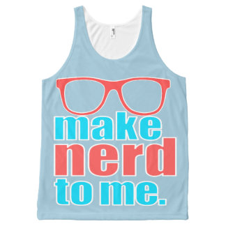 Make Nerd to Me All-Over Print Tank Top
