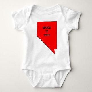 Make Nevada Red Baby Bodysuit
