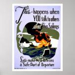 Make New Orleans Safe 1943 WPA Poster