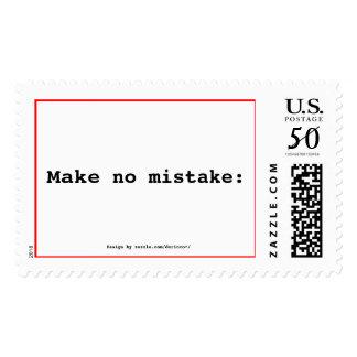 Make no mistake: postage