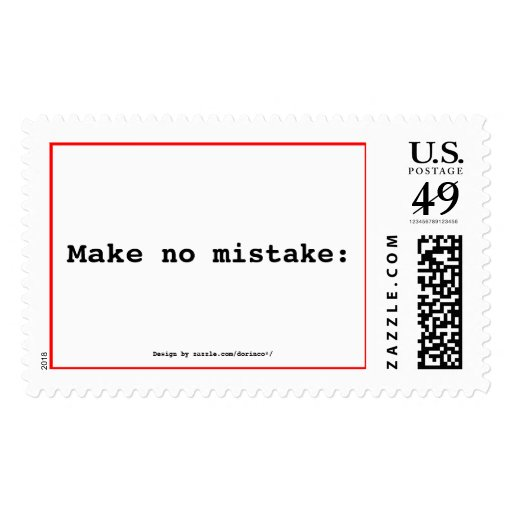 Make no mistake: stamps