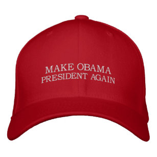 c903a712521 MAKE OBAMA PRESIDENT AGAIN - Anti-Donald Trump Hap Embroidered Baseball Cap