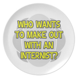 Make Out With an Internist Party Plates
