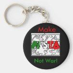 Make Pasta not war! Basic Round Button Keychain
