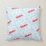 Make Pattern Throw Pillow