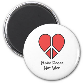 Make Peace Not War 2 Inch Round Magnet
