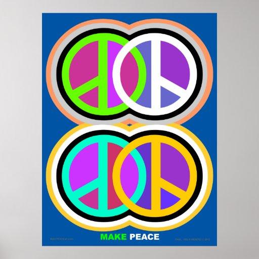 Make Peace Poster amkepeaceart.com