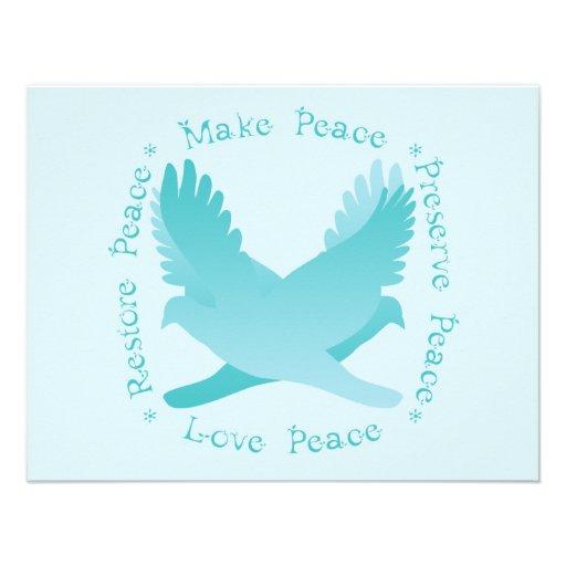 Make Peace, Restore Peace, Preserve, Love Peace Custom Announcement