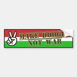 Make Peace With Doogh Not War bumper sticker