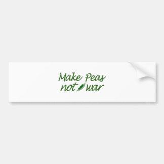 Make Peas Not War Bumper Sticker