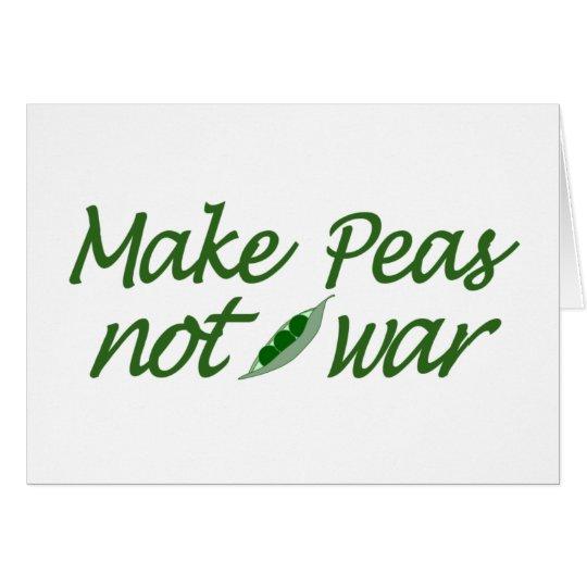 Make Peas Not War Card