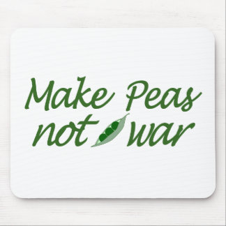 Make Peas Not War Mouse Pad