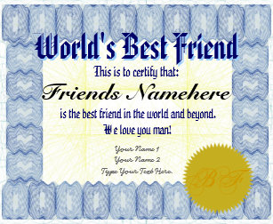 f31c8692519 Make Personalized World s Best Friend Certificate Wrapping Paper