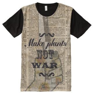 Make Plants,Not War Dictionary Art All-Over Print Shirt