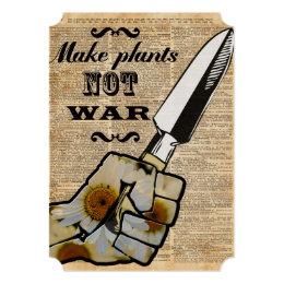 Make Plants,Not War Dictionary Art Card