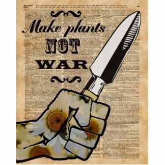 Make Plants,Not War Dictionary Art Cutout