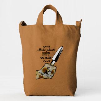 Make Plants,Not War Dictionary Art Duck Bag