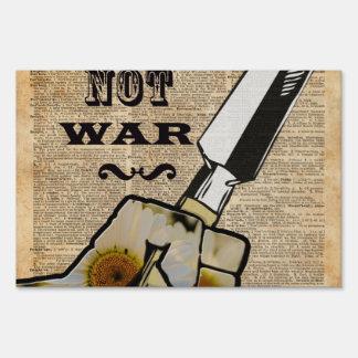 Make Plants,Not War Dictionary Art Sign
