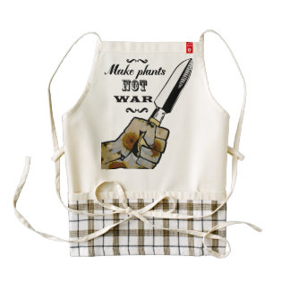 Make Plants,Not War Dictionary Art Zazzle HEART Apron