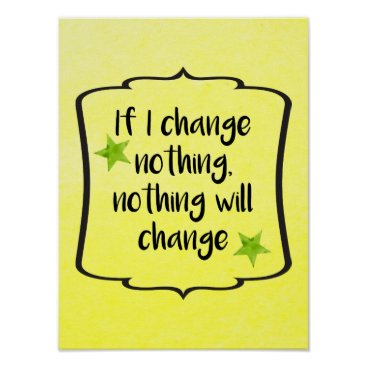 inspiringsummers Make Positive Change Motivation Inspiration Quote Poster