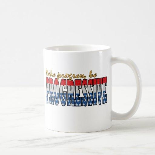 Make progress be Progressive Classic White Coffee Mug