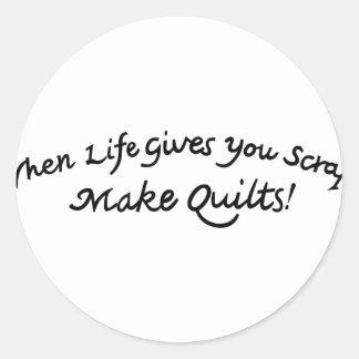 Make Quilts Classic Round Sticker
