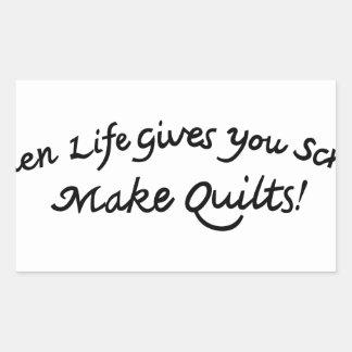 Make Quilts Rectangular Sticker