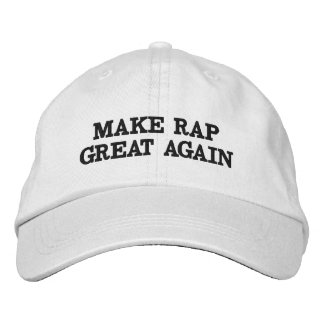 Make Rap Great Again with this trendy hat! Embroidered Baseball Hat