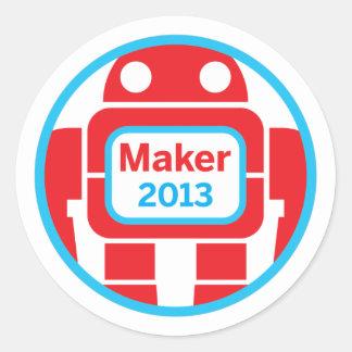 Make Robot Classic Round Sticker