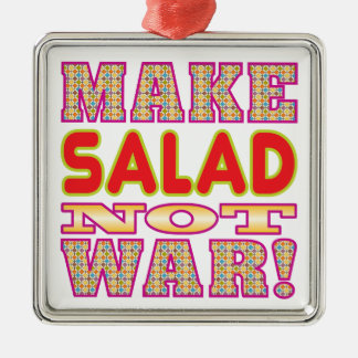 Make Salad v2 Metal Ornament