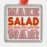 Make Salad v2 Square Metal Christmas Ornament