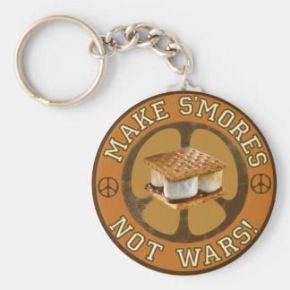 Make S'mores Not Wars Basic Round Button Keychain