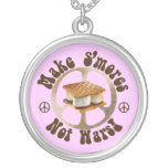 Make Smores Not Wars Personalized Necklace