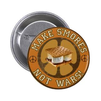 Make S'mores Not Wars Pinback Button