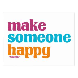 Make Someone Happy Postcard