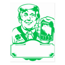 make st patricks day great again green postcard