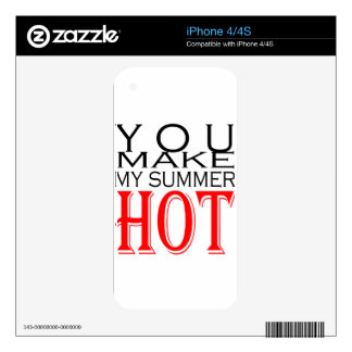 make summer hot flirt teenage memory hot black bea decal for the iPhone 4S