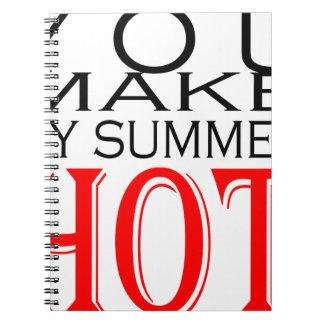 make summer hot flirt teenage memory hot black bea spiral notebook