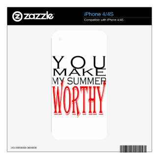make summer worthy flirt teenage memory hot black iPhone 4 skins
