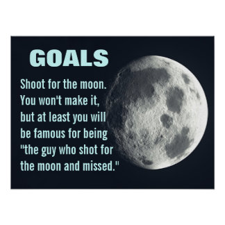 Make sure you set your goals very high (L) Poster