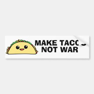 Make Tacos Car Bumper Sticker