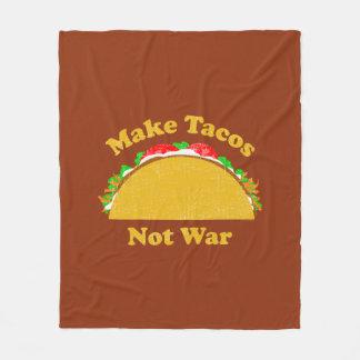 Make Tacos Not War Fleece Blanket