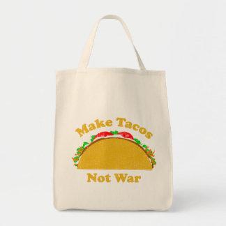 Make Tacos Not War Grocery Tote Bag