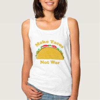 Make Tacos Not War Tank Top