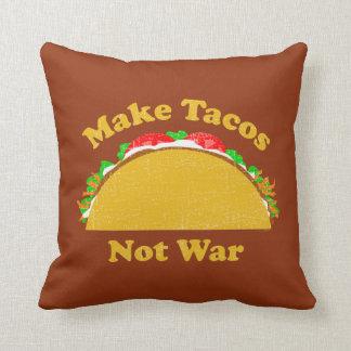 Make Tacos Not War Throw Pillow