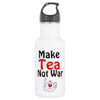 Make tea not war 18oz water bottle