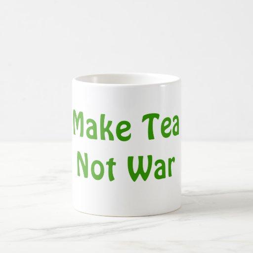 Make Tea Not War Coffee Mug