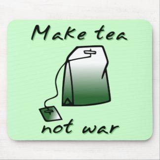 Make Tea Not War Funny Mousepad Mouse Pad Humor