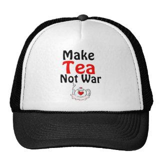 Make Tea Not War Trucker Hats